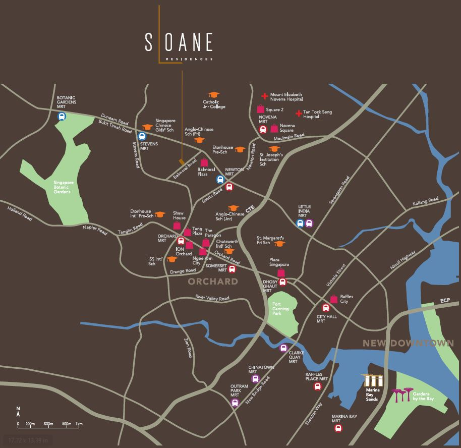 sloane residences location map