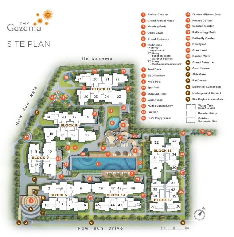the gazania site plan