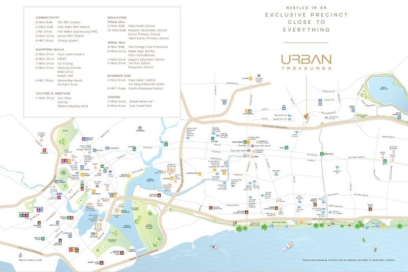 urban treasures location map